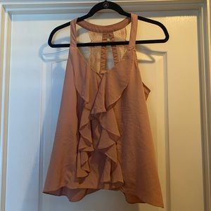 Beautiful lace ruffle LC Lauren Conrad top EUC